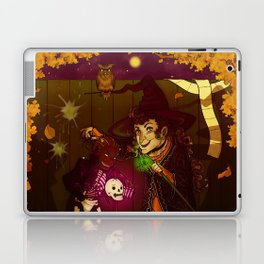 Witch and Wizard of Halloween Laptop & iPad Skin
