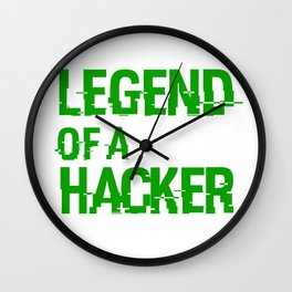 Legend of a Hacker (Hacked) Wall Clock