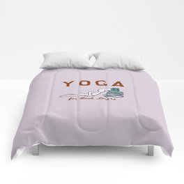 Yoga for Book Lovers Comforters