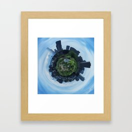 Emerald City Abstract Framed Art Print
