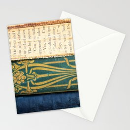 Antique Book Textures Stationery Cards