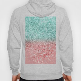 Summer Vibes Glitter #1 #coral #mint #shiny #decor #art #society6 Hoody