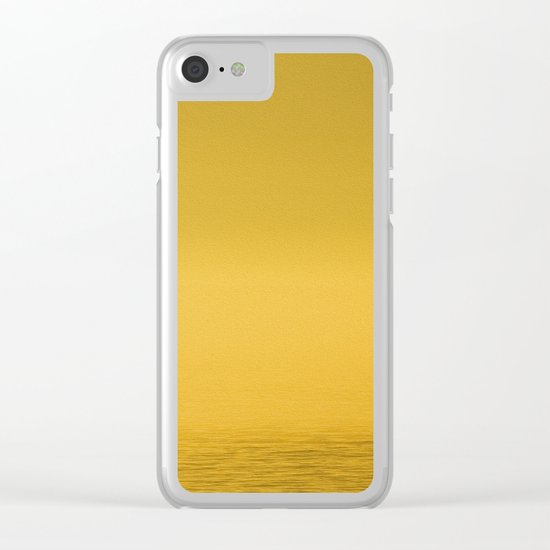 Paint Pêcheur sun yellow Clear iPhone Case