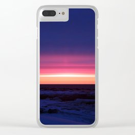 Sublime Seaside Sunset Clear iPhone Case