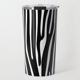 Zebra geometric pattern Travel Mug