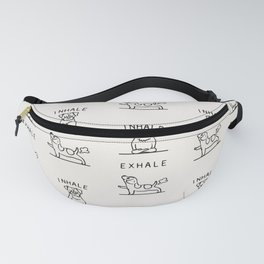 Inhale Exhale Jack Russell Terrier Fanny Pack