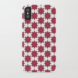 Flowery Red iPhone Case