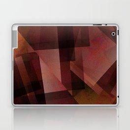 Sunburnt Red Orange - Digital Geometric Texture Laptop & iPad Skin