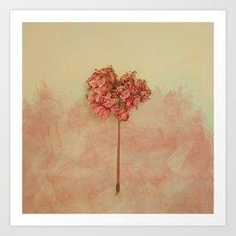 One Pink Geranium Art Print