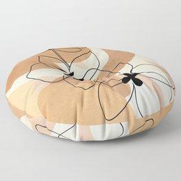 Elegant Flowers Floor Pillow