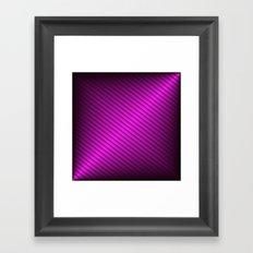 Purple Oblique Stripes Framed Art Print
