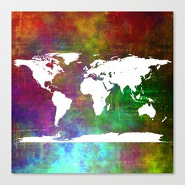 WORLD MAP #society6 Canvas Print