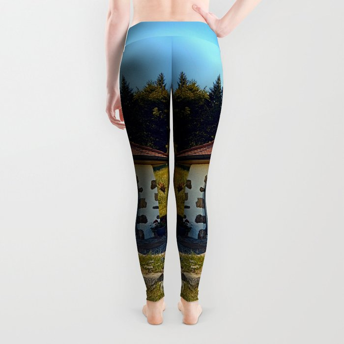Small chapel up on the mountain Leggings