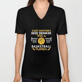 Beer Drinker Basketball Unisex V-Neck