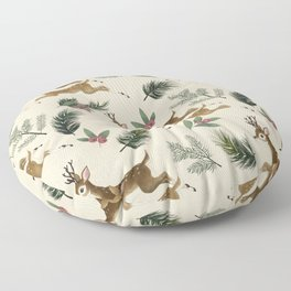 winter deer // repeat pattern Floor Pillow