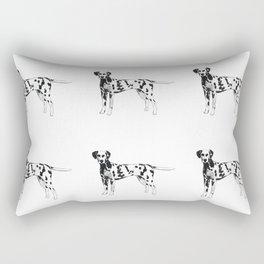 Dalmatian playful watercolor painting Rectangular Pillow