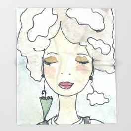 Pensieri e nuvole Throw Blanket