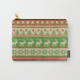 Ugly Christmas Sweater Digital Knit Pattern Carry-All Pouch