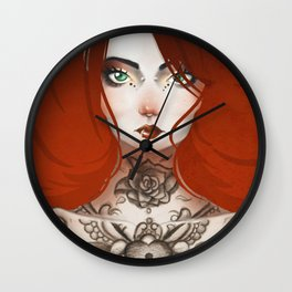 The Beauty Freaks - The tattooed Wall Clock