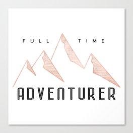 Full Time Adventurer Rosegold Mountains Canvas Print