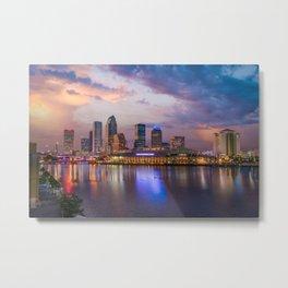 Tampa Gloam Metal Print