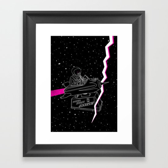 Space Journey Framed Art Print