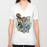 oz V-neck T-shirts featuring Oz  by Mickey Spectrum