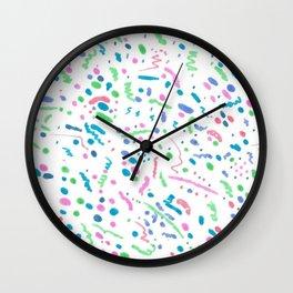 Confetti Splatter Pattern Wall Clock