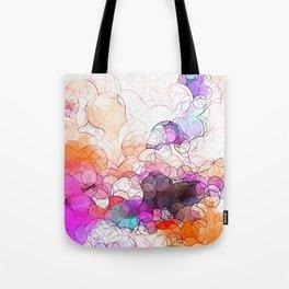 Geometric / Circular Landscape Art Tote Bag