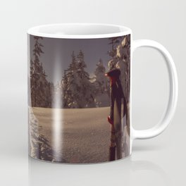 Sunrise Backcountry Ski // Skin Track to Snowy Paradise Coffee Mug