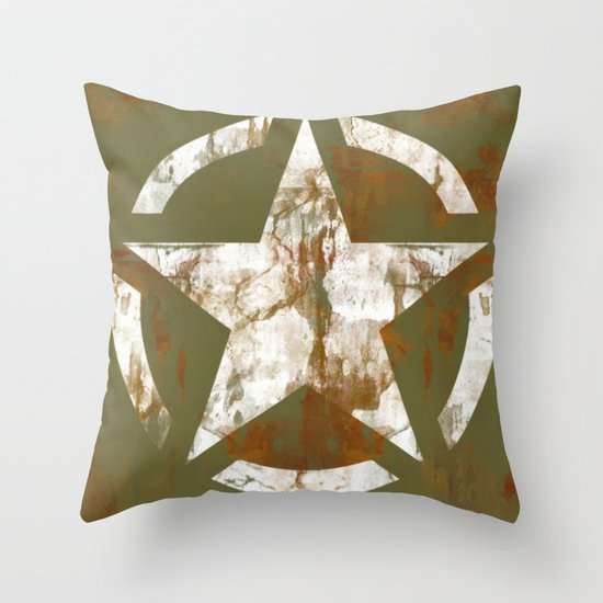 Distressed Star Throw Pillow
