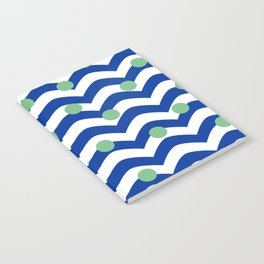 blue dotted waves Notebook