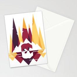 Geometric Bear Stationery Cards