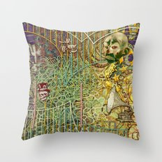 Grinding Out The Mean Layer Throw Pillow