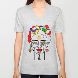 Move like Frida Kahlo Unisex V-Neck