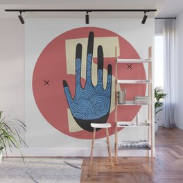 High Five in Blue Wall Mural