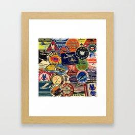 Luggage Labels 1 Framed Art Print