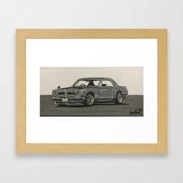 Nissan Hakosuka Skyline Framed Art Print