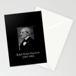 portrait of Ralph Waldo Emerson Stationery Cards
