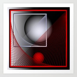 games with geometry -136- Art Print
