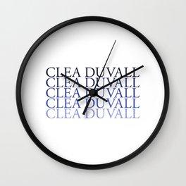 Clea Duvall Wall Clock
