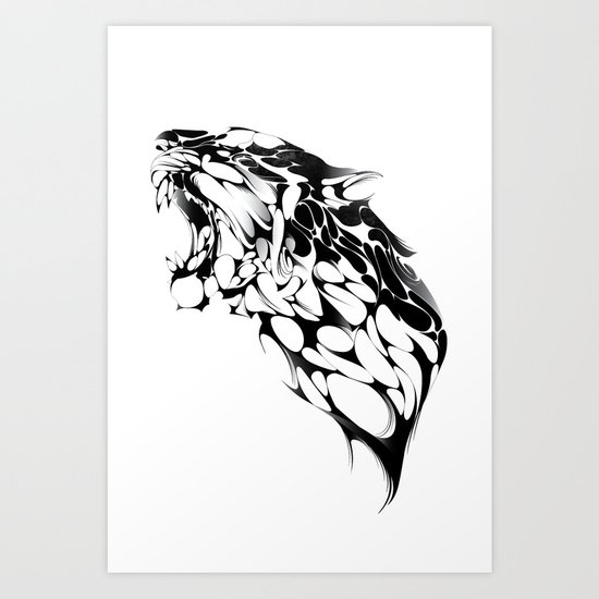 Tiger Growl Art Print