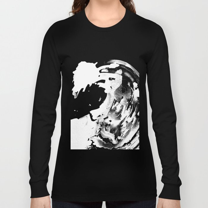 Keep Our Oceans Icy and Black and White Long Sleeve T-shirt