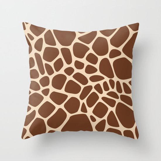 Giraffe Throw Pillow by The Paper Shop Society6