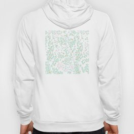 Forget me nots on white - in memory... Hoody