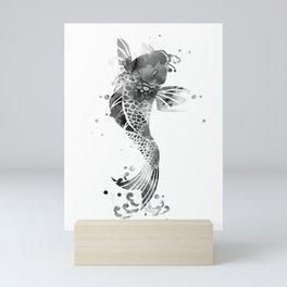 Koi Fish Black And White Mini Art Print