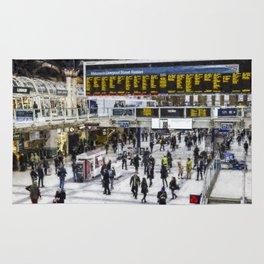 London Train Station Art Rug