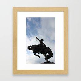 Rider in the Sky Framed Art Print