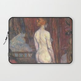 "Henri de Toulouse-Lautrec ""Woman before a Mirror"" Laptop Sleeve"