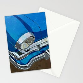 Classic Retro Car Art Series #1 in Harbor Blue Stationery Cards